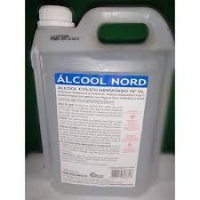 Álcool 70% % 5L Alcool Nord