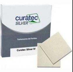 Curativo de Alginato com Prata Silver IV 10 cm x 10 cm Curatec
