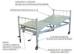 Cama Hospitalar 2 manivelas Bio MN