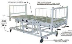 Cama Hospitalar 3 manivelas c/ elevação Bio MN